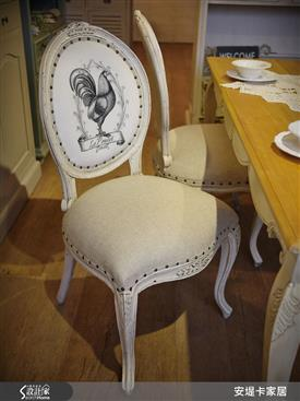 安堤卡家居-凱斯法式鉚釘繃布餐椅-凱斯法式鉚釘繃布餐椅,安堤卡家居,餐椅