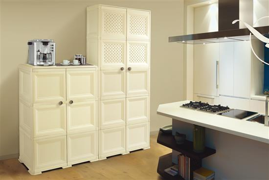 【樂扣樂扣-Tontarelli義特里尼】歐尼摩登多功能開闔式櫥櫃-收納櫃