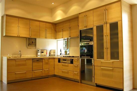一太日本原裝淺木紋L型廚具+高身櫃-廚房設備