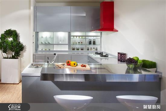 智慧廚房 AIKitchen-電動系列 - 電動升降吊櫃+推門收納櫃-電動系列 - 電動升降吊櫃+推門收納櫃,智慧廚房 AIKitchen,廚房門板
