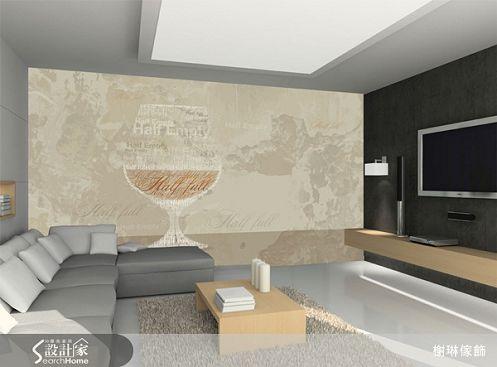 榭琳傢飾有限公司-大幅壁紙系列22-Brandy-Ecru-大幅壁紙系列22-Brandy-Ecru,榭琳家飾,壁紙