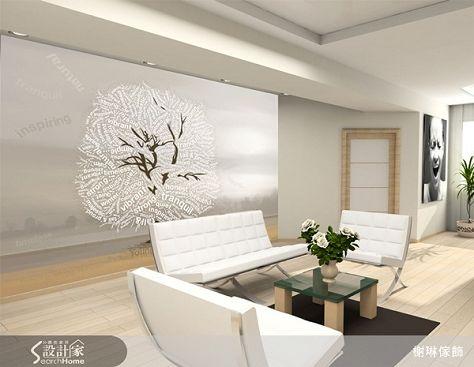 大幅壁紙系列27-Tree-Ecru-壁紙