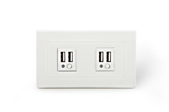 舜記貿易股份有限公司-SMP5系列4孔USB插座型-SMP5系列4孔USB插座型,舜記貿易股份有限公司,插座、開關