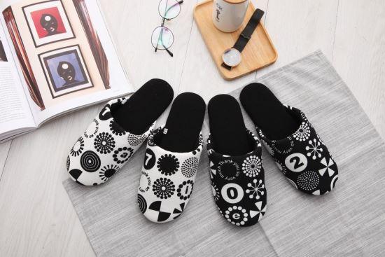 Vero & Nique   維諾妮卡-76060普普風幾何包頭室內布拖鞋-76060普普風幾何包頭室內布拖鞋,Vero & Nique   維諾妮卡,居家用品